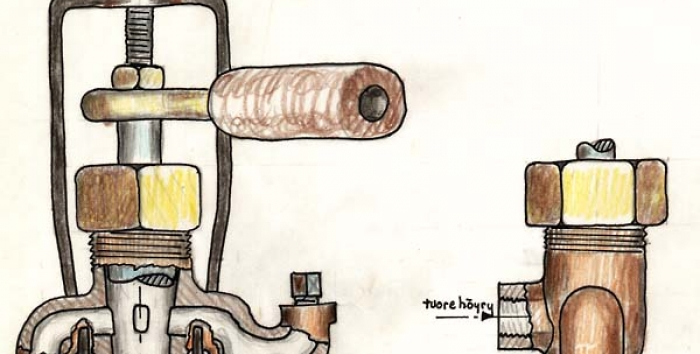 Drawing of the break valve