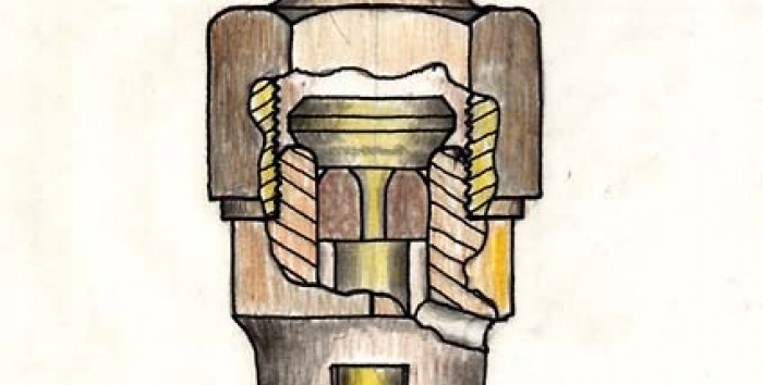 Drawing of a blow valve